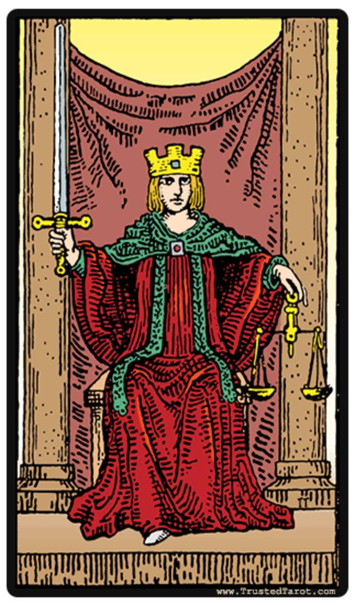"The most common ""Justice"" Tarot card."