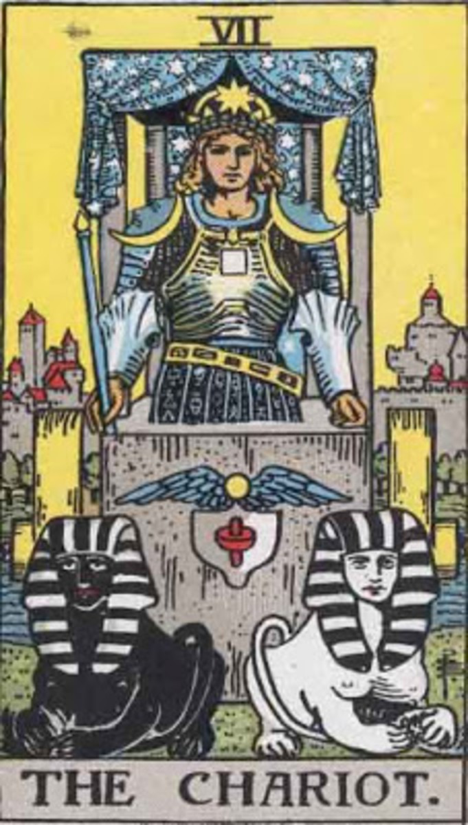"The most common Tarot card for ""The Chariot."""