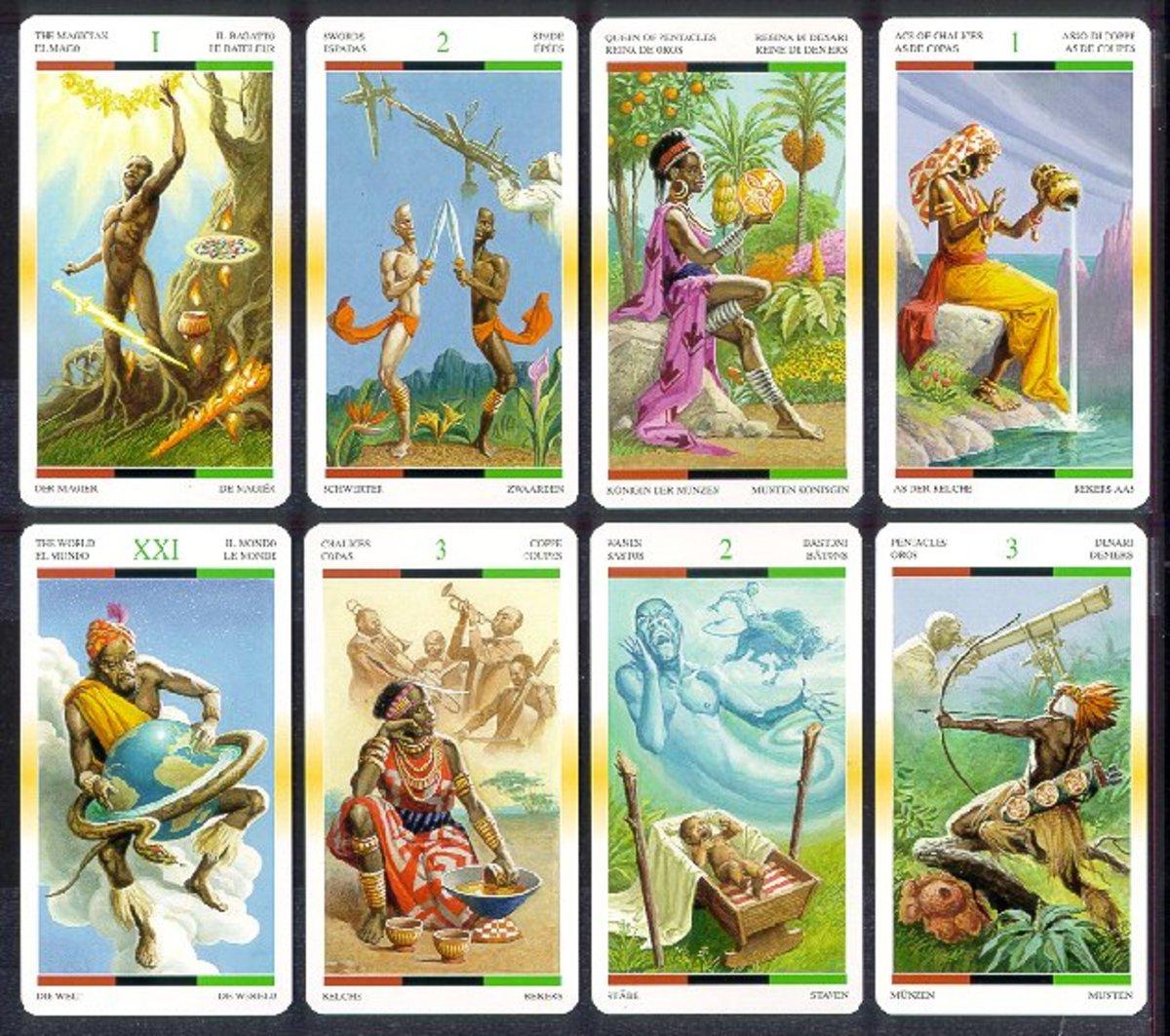 African Tarot cards