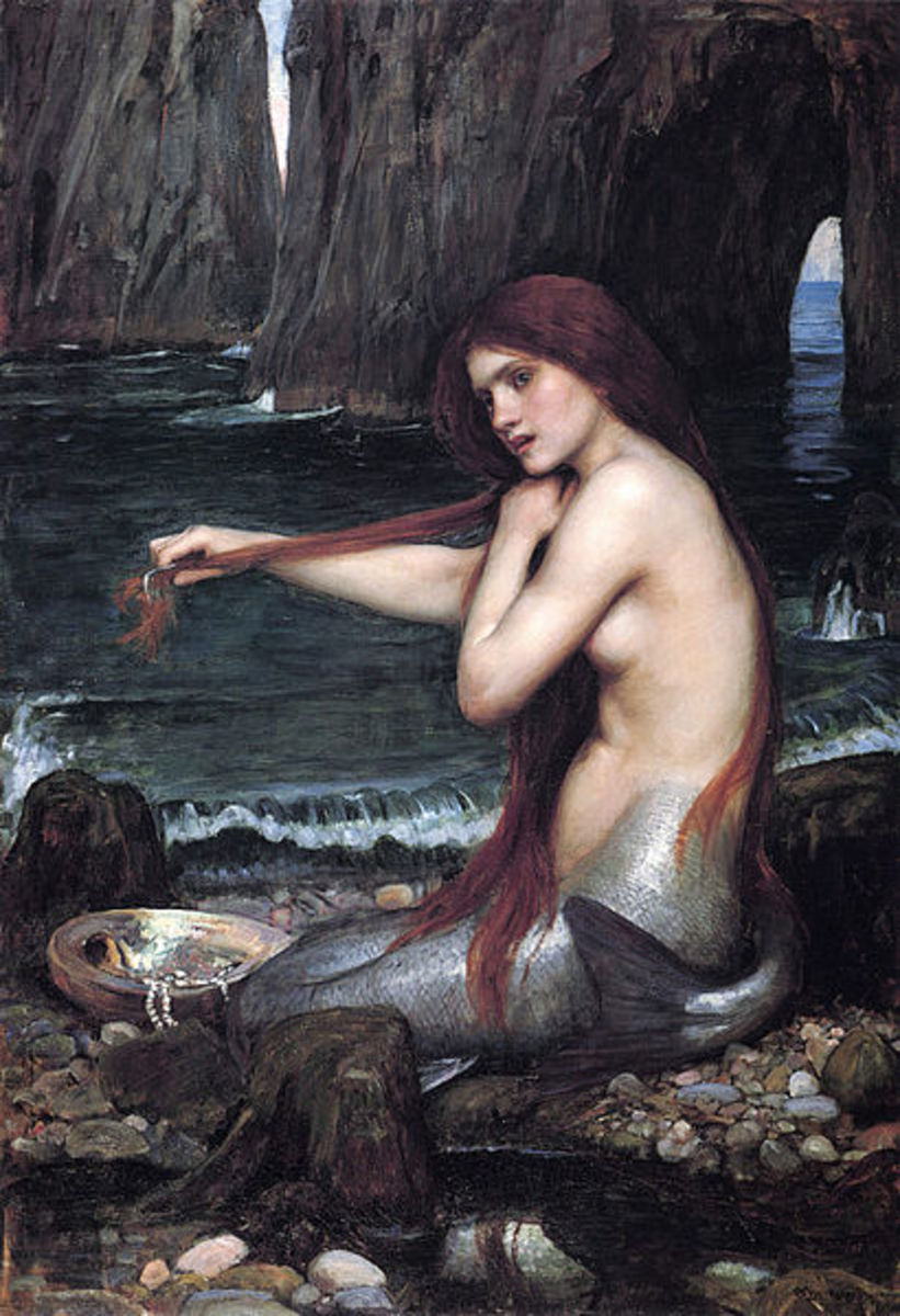 Do mermaids comb their hair to make it straight? Or do they comb it for the additional food caught therein.