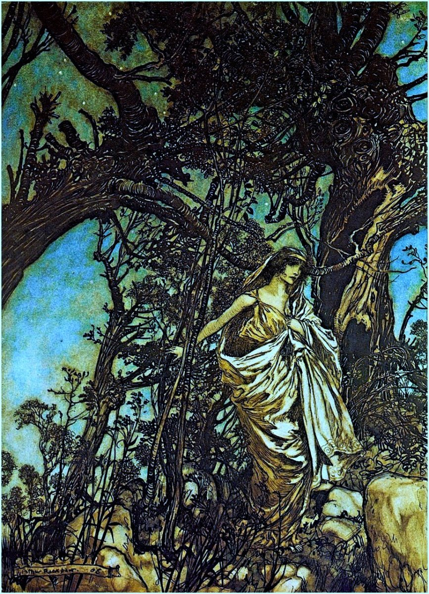 By Arthur Rackham for A Midsummer Night's Dream