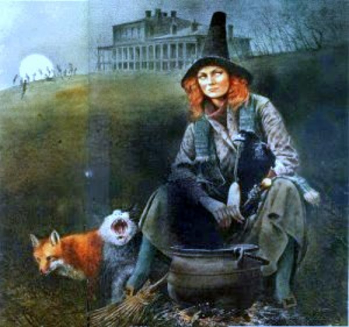 Portrait of a Celtic witch, often used to represent Isobel Gowdie. By Robert Ingpen.