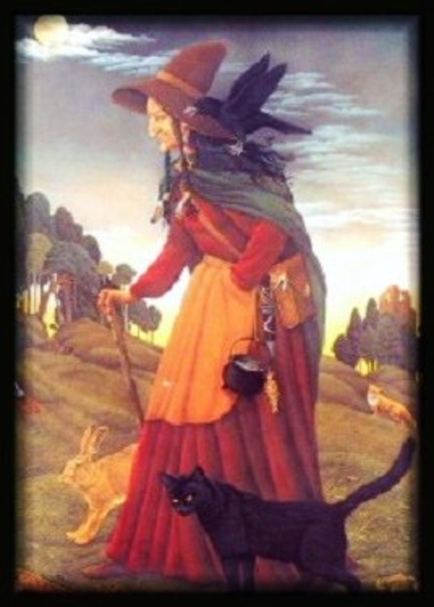 A British witch from the Early Modern period, artist unknown.