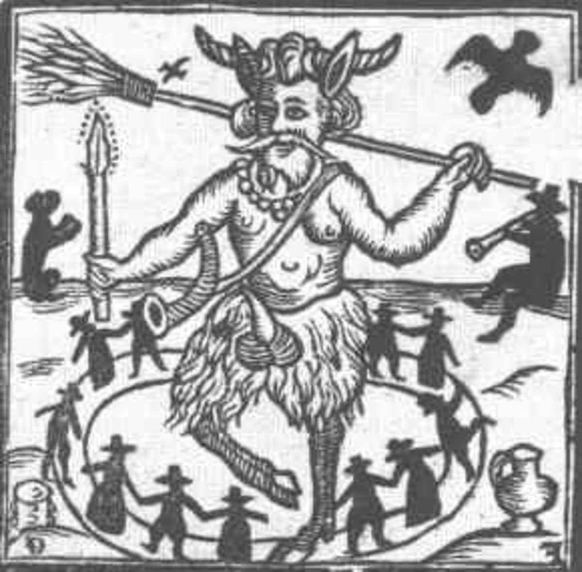 In Wicca, the God is associated with raw, untamed nature, wild animals and fertility. We're not a religion that believes in 'demons' or 'devils' or 'evil'.