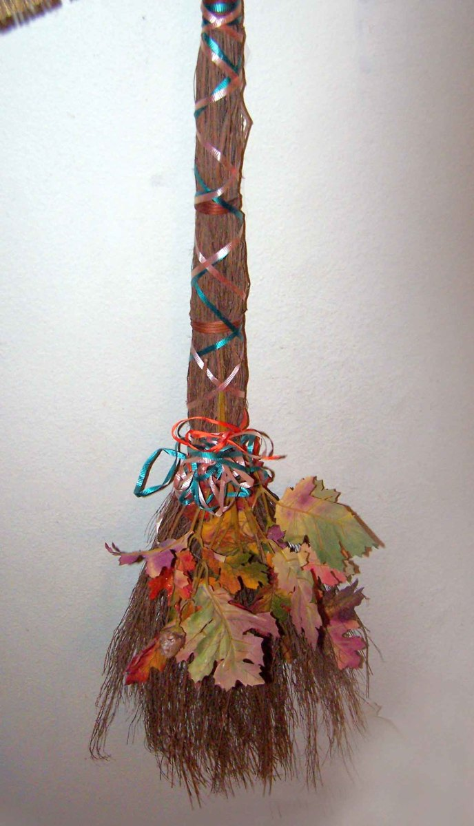 We made this besom a while ago... sometimes we put it on the altar, sometimes we put it by the front door.