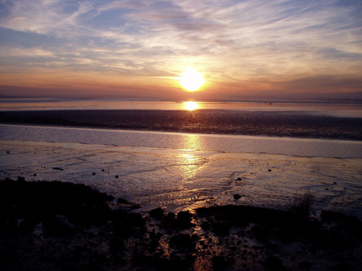 Sunset over the Severn Estuary