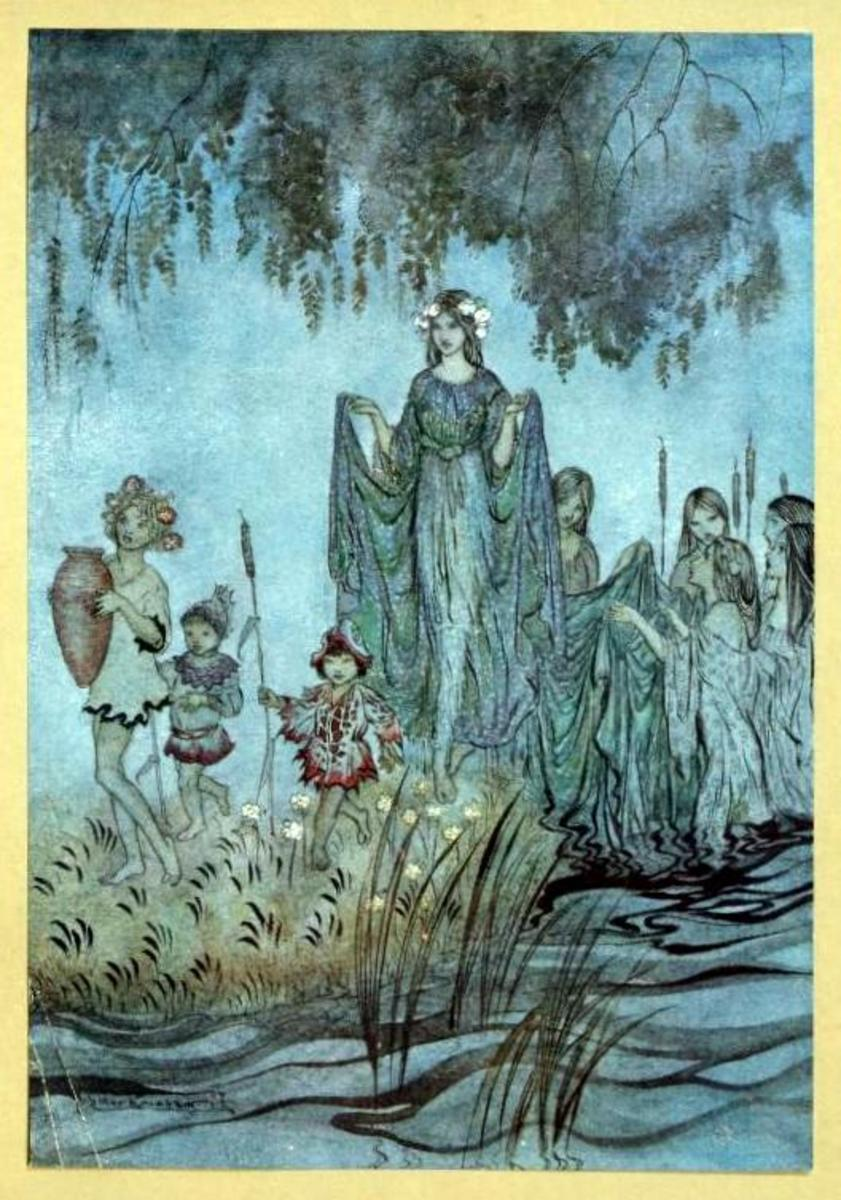 """Sabrina rises, attended by water-nymphs"""