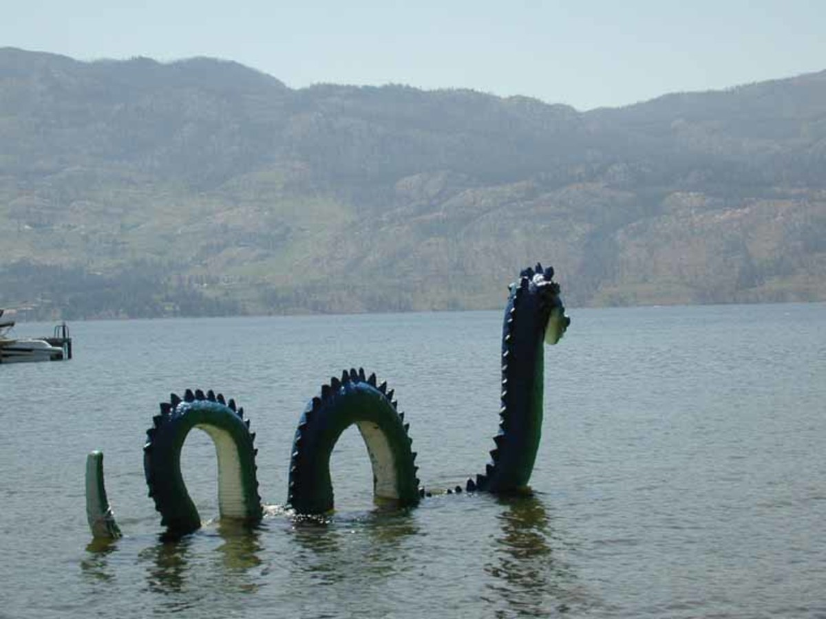 At least you'll definitely find his statue in the lake's shallows.