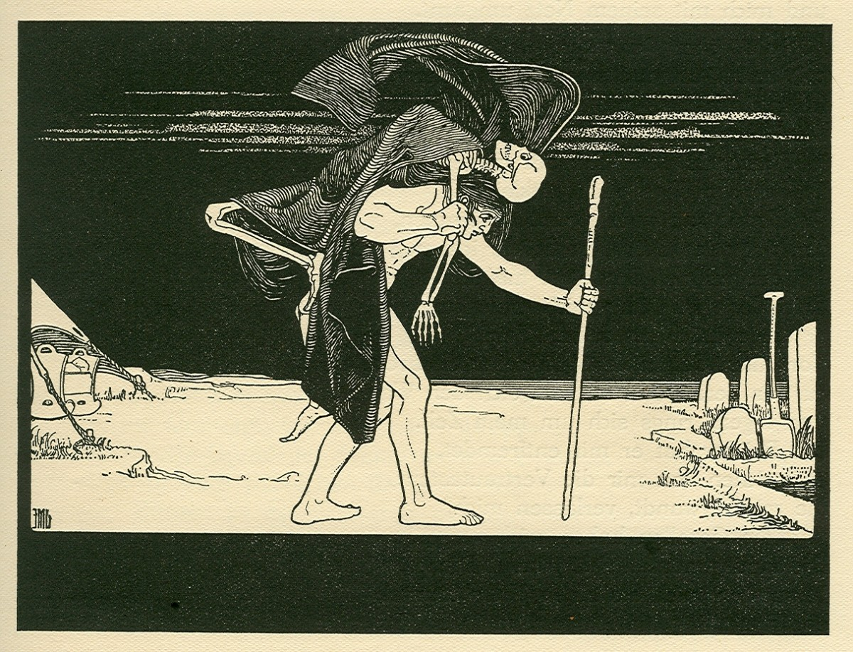 An artist's depiction of a Dybbuk.