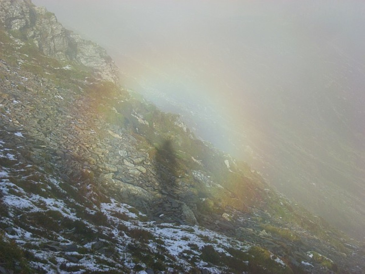 Brocken spectre on Grisedale Pike.