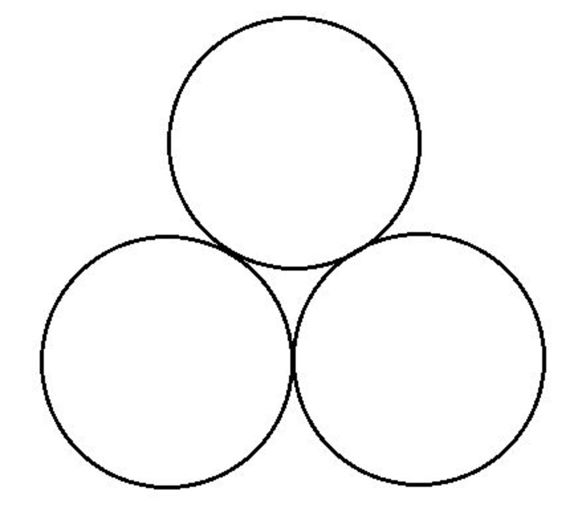 Peace symbol.