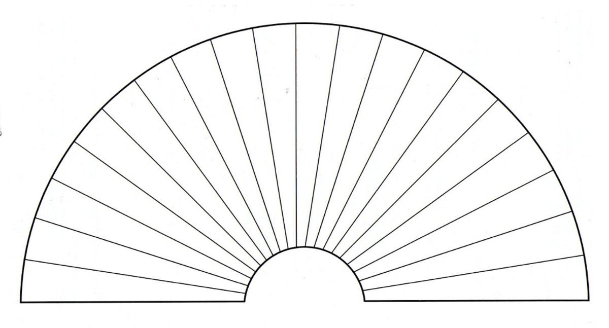 A 20 segment pendulum divination chart.