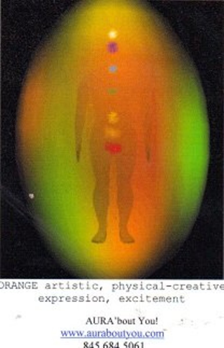 The orange and bright yellows show his fun and artistic side, and the yellow circle above his head indicates intelligence. Green is for healing, and his calm demeanor was helpful to everyone close to him.