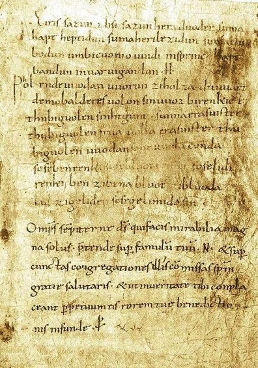 Merseburg Incantations manuscript.