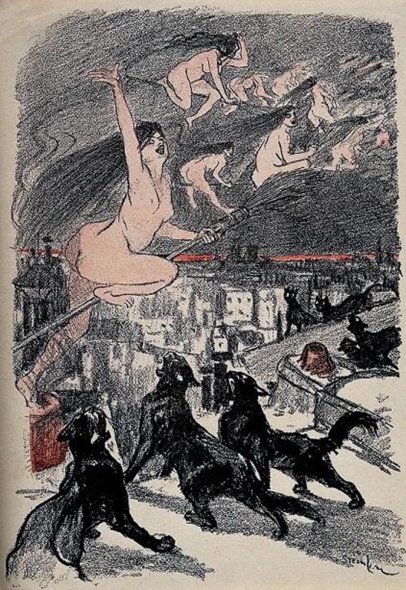 Colour photomechanical reproduction of a lithograph by T.A. Steinlen.