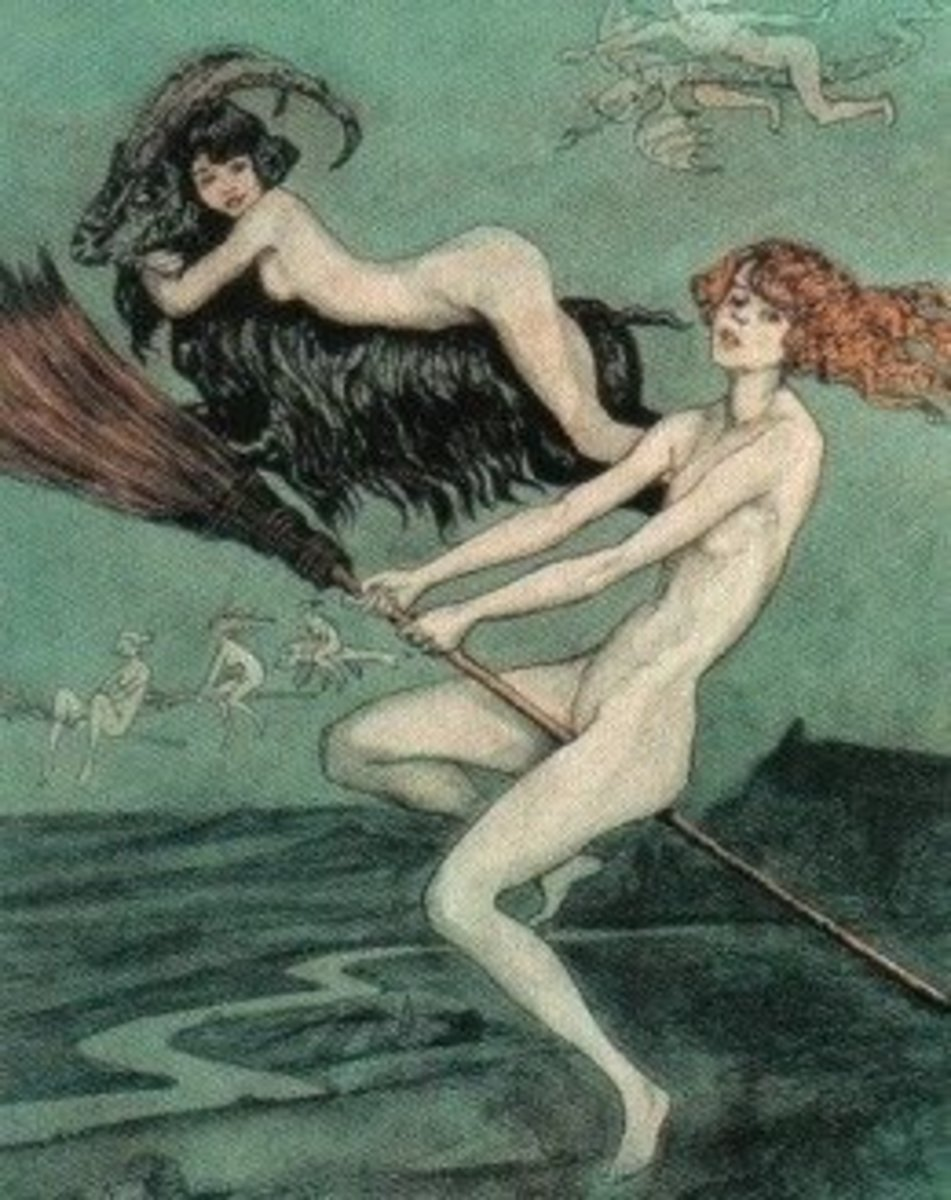 Riding Witches by Otto Goetze, 1924
