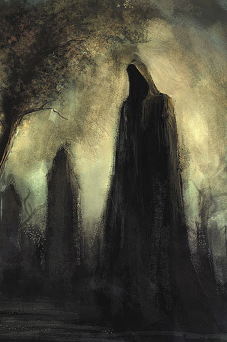 Hooded figures have been seen in the grounds