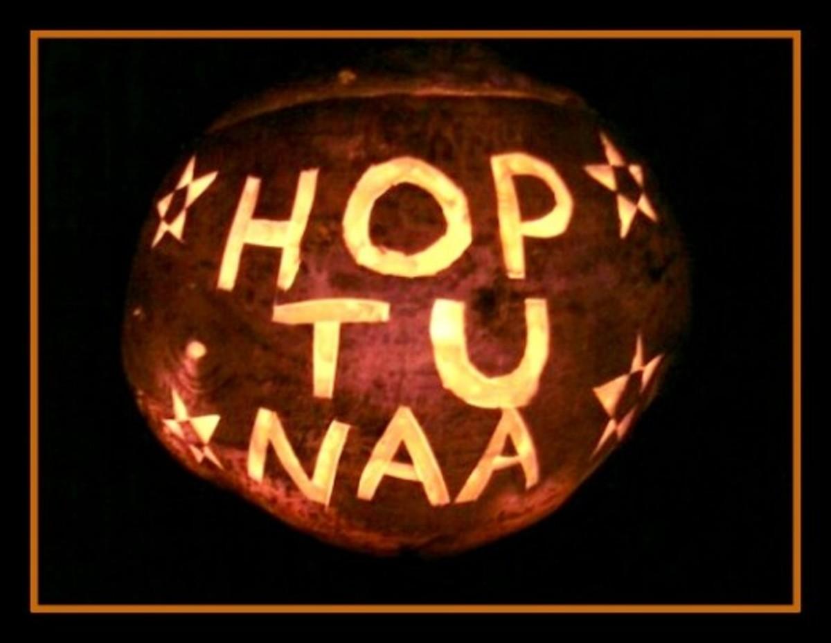 Hop-tu-Naa turnip lantern.