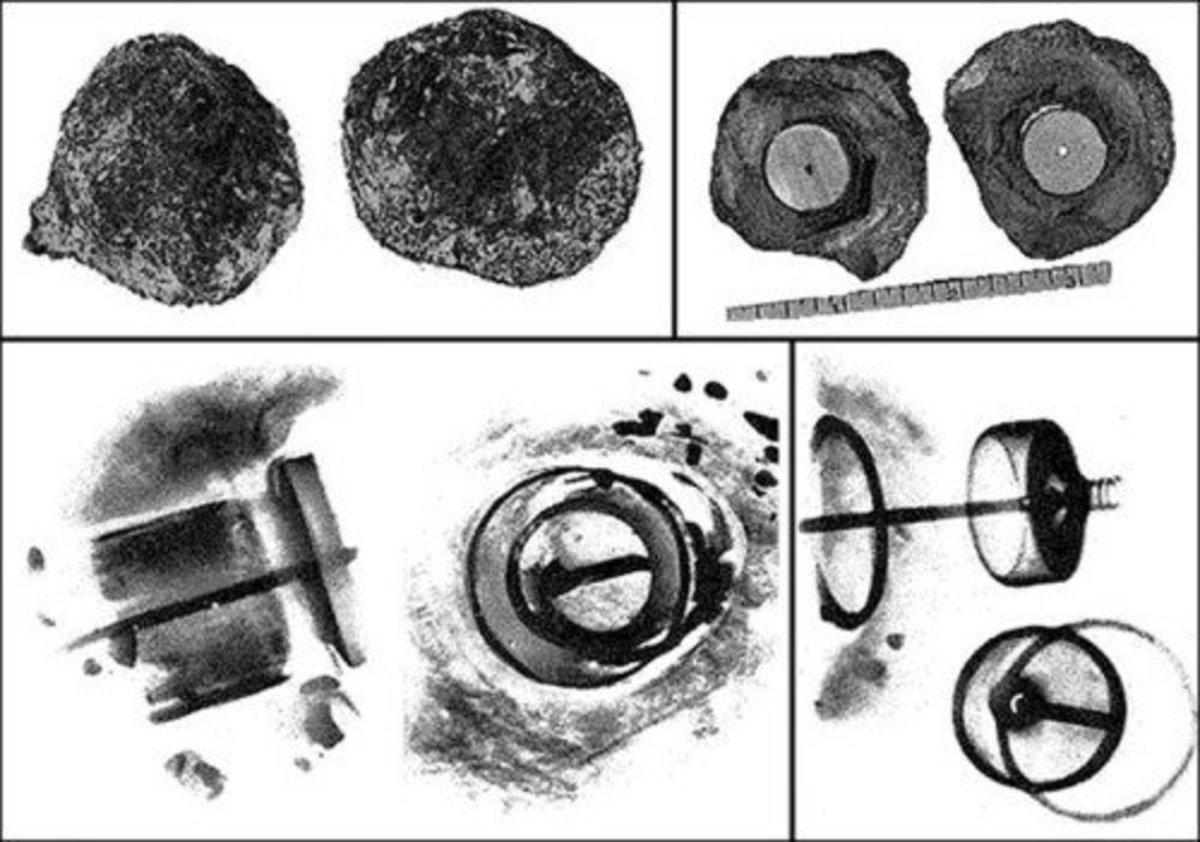 X-ray images of the Coso artifact.