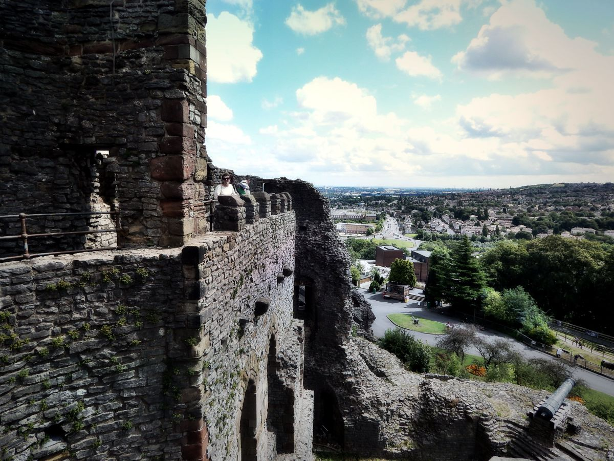 The view from the Keep of Dudley Castle, looking towards Birmingham and the direction of Hockley Castle.