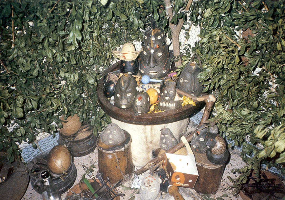 Santeria altar.