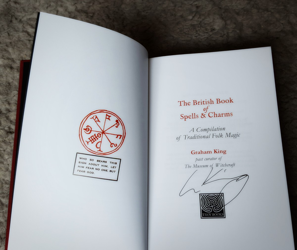 Inside of a Special Edition copy, from Troy Books.