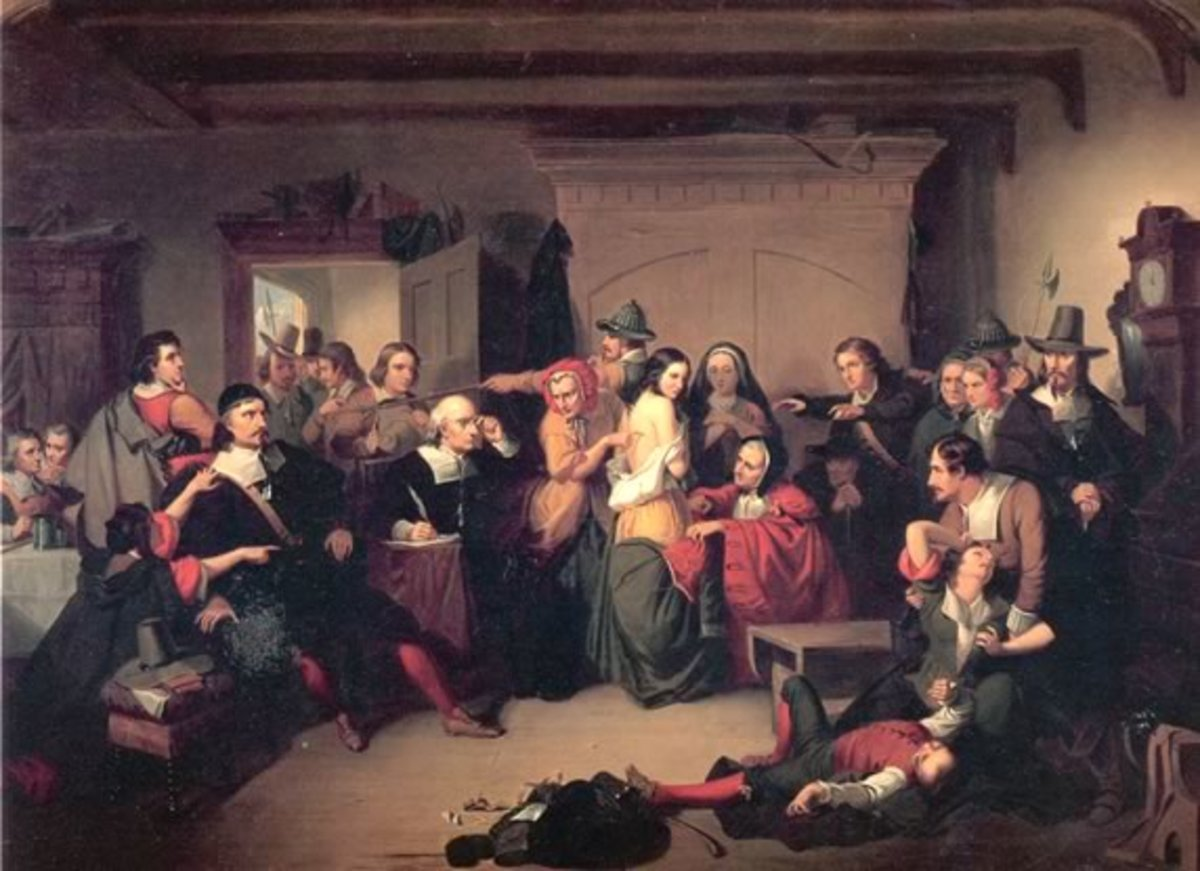 """T.H. Matteson """"Examination of a Witch"""" (1853)"""