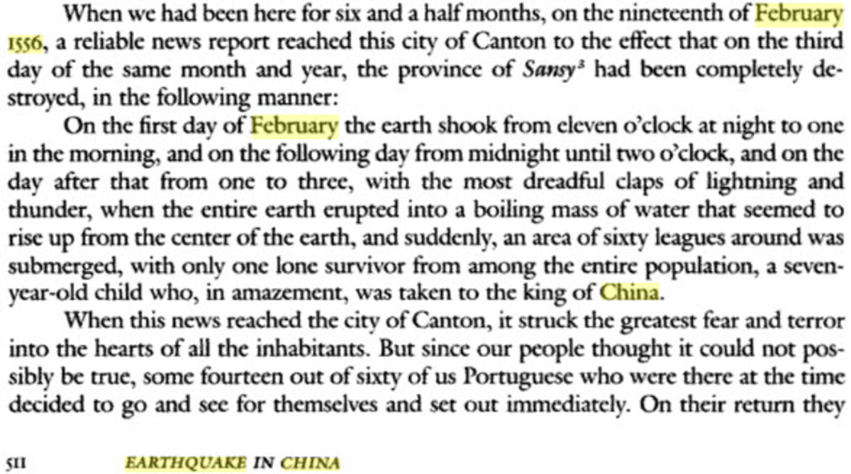 """Excerpt from """"The Travels of Mendes Pinto"""", courtesy of Google Books."""