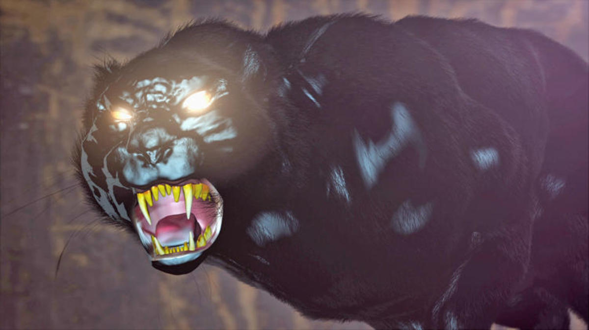 An artist interpretation of the Wampus Beast as shown on Mountain Monsters.