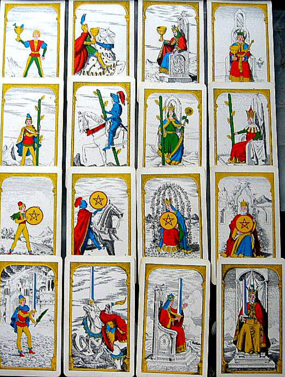 Minor Arcana cards representing the person being read.