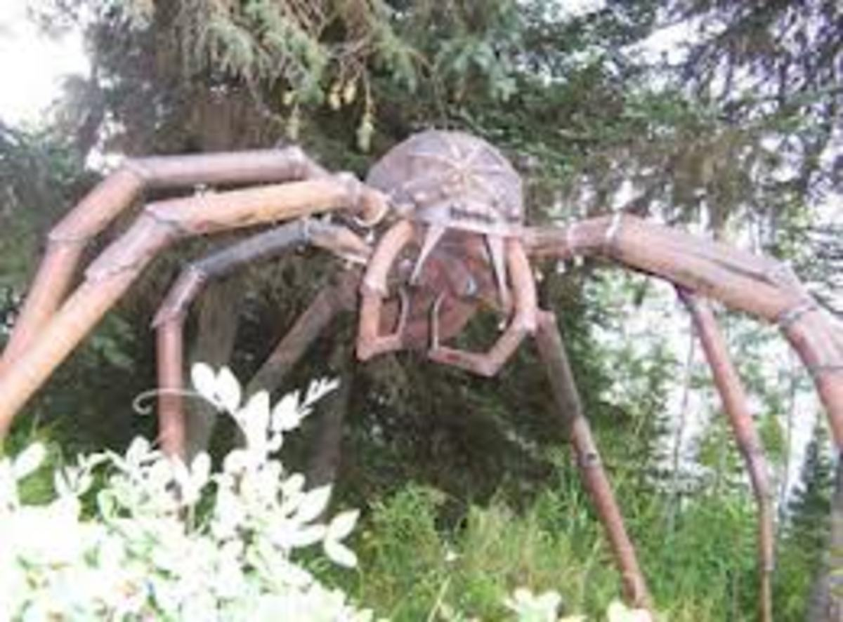 A representation of J'ba FoFi, the Congolese Giant Spider.