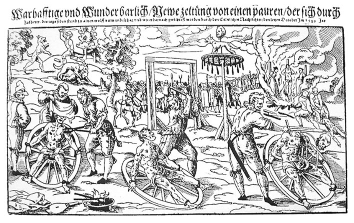 A woodcut print by Lukas Mayer depicting the execution of Peter Stumpp.