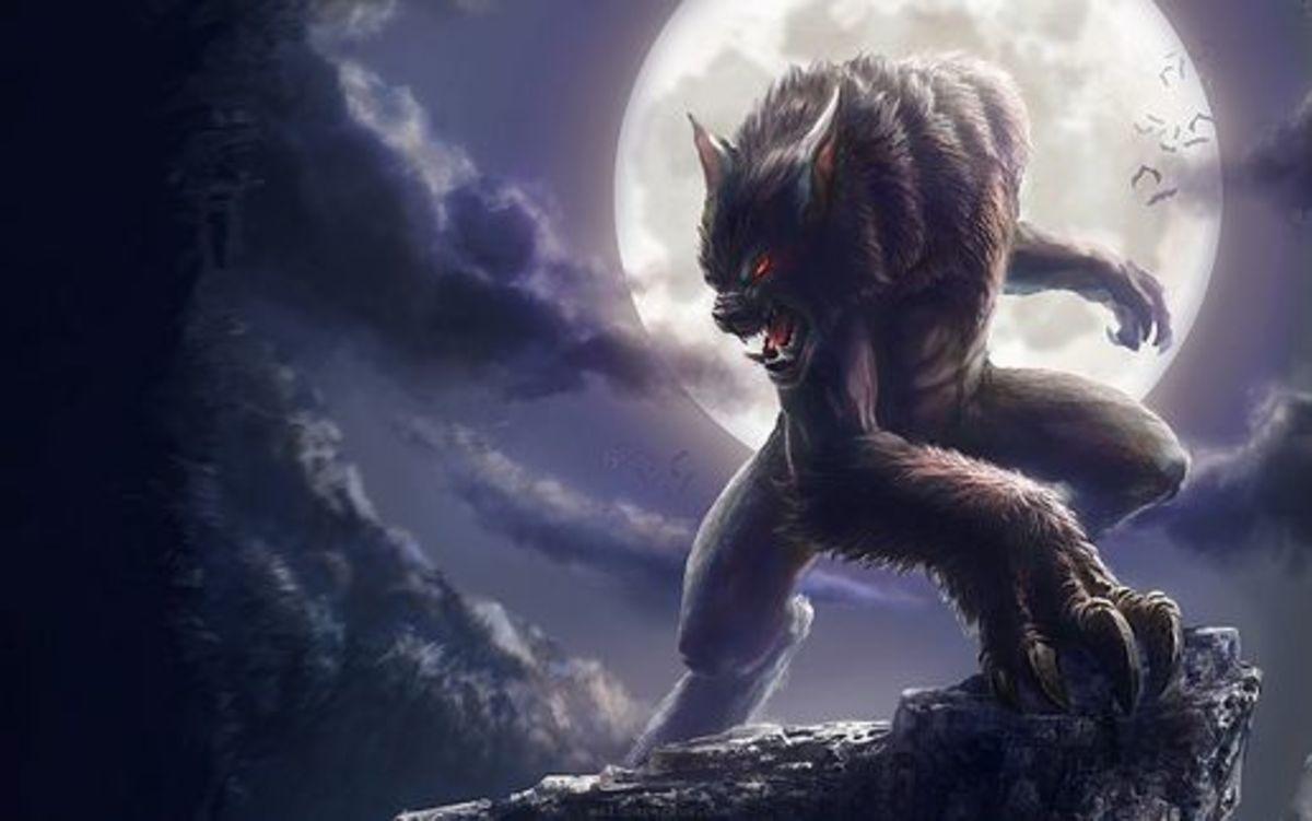 A more modern depiction of a werewolf.