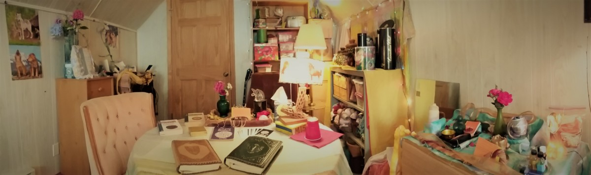 """Here is the """"Studio"""" half of my """"Loft Area"""" with completed Feng Shui set up."""