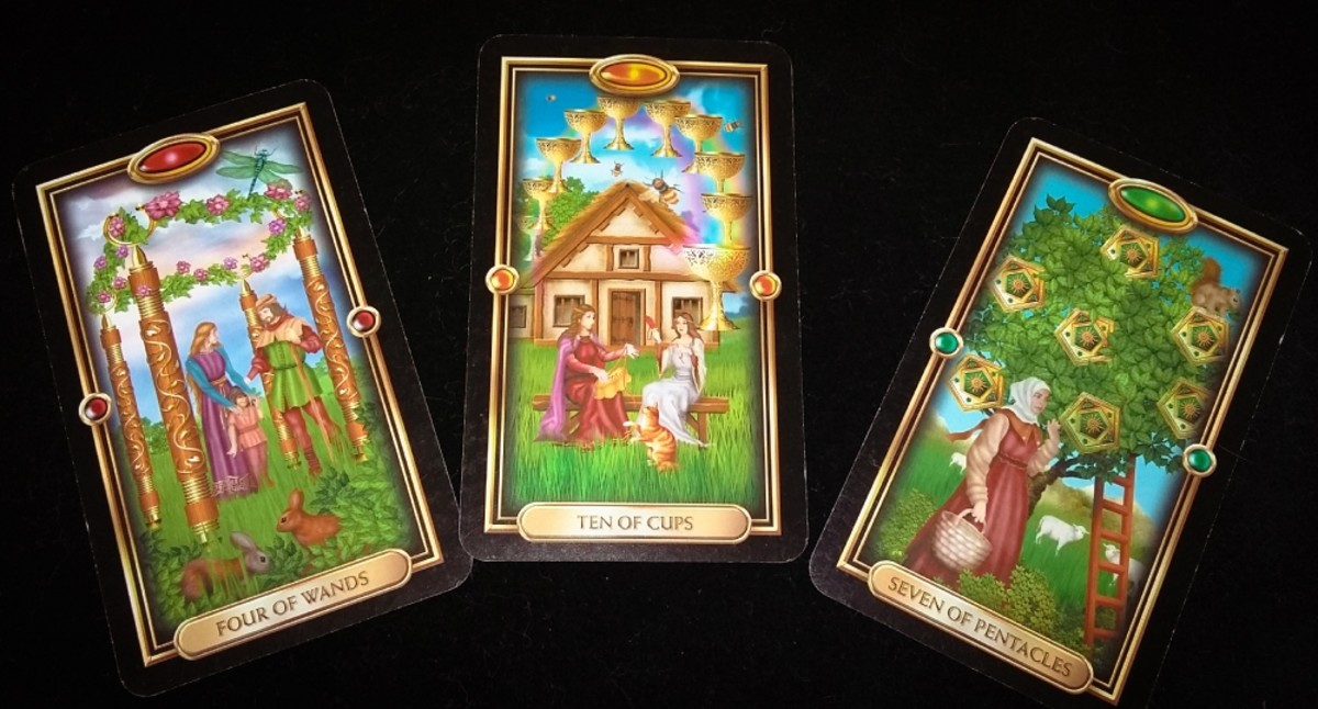 Love Tarot Spread #1 using the Gilded Tarot