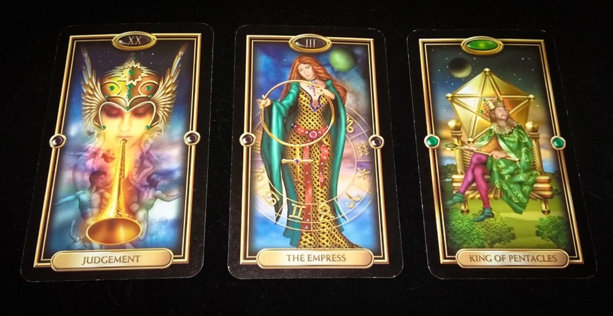 Love Tarot Spread #2 using The Gilded Tarot