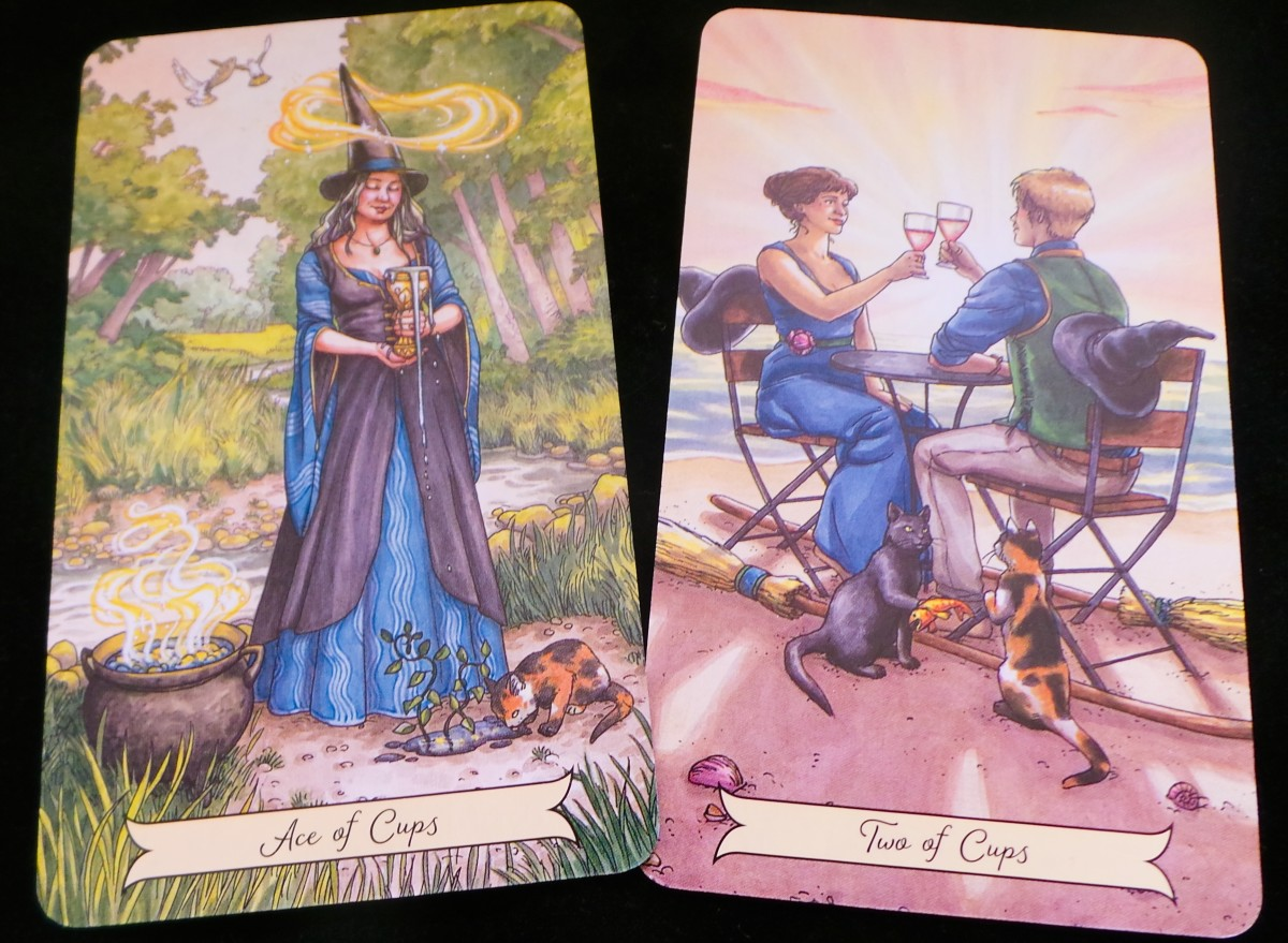 The Ace of Cups and Two of Cups