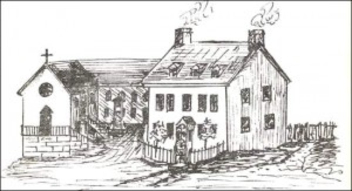 Sketch of the old Catholic chapel on Henry Street where Catherine's newborn son Richard was christened, on March 22, 1834, while his mother sat in prison, awaiting execution.