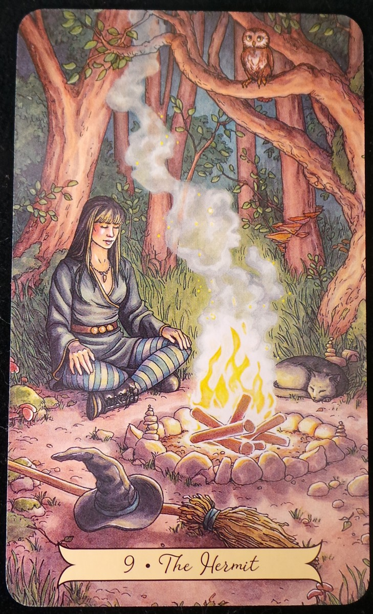 The Hermit from the Everyday Witch Tarot