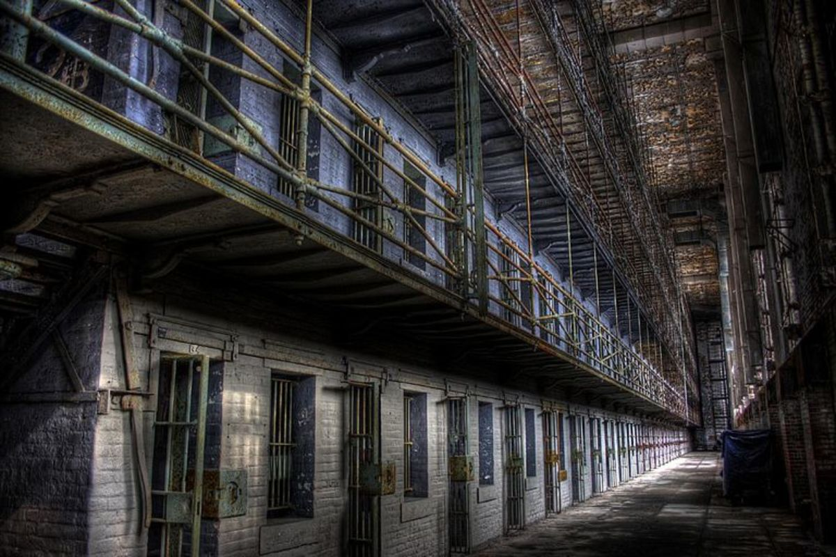 Cell blocks at the Ohio State Reformatory