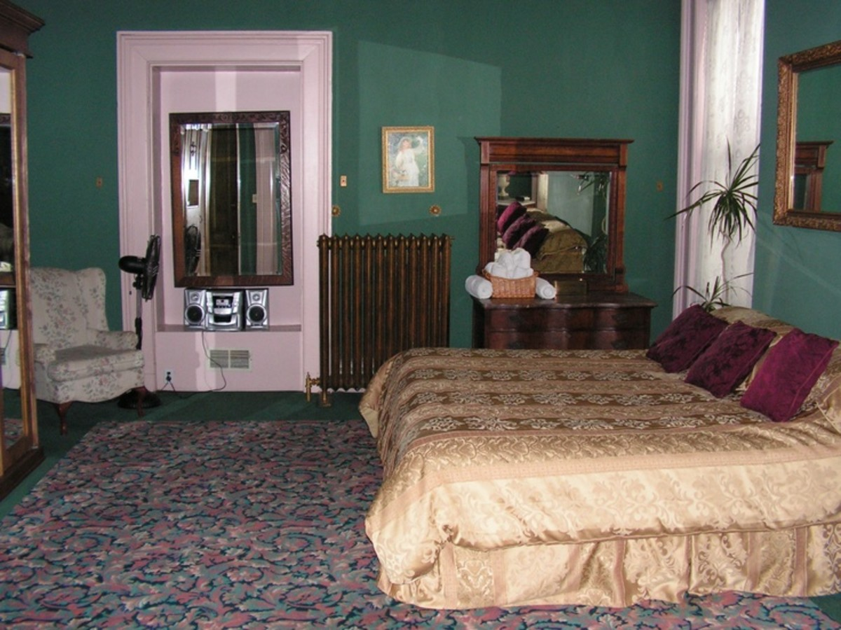 William Sr.'s bedroom where he shot himself.