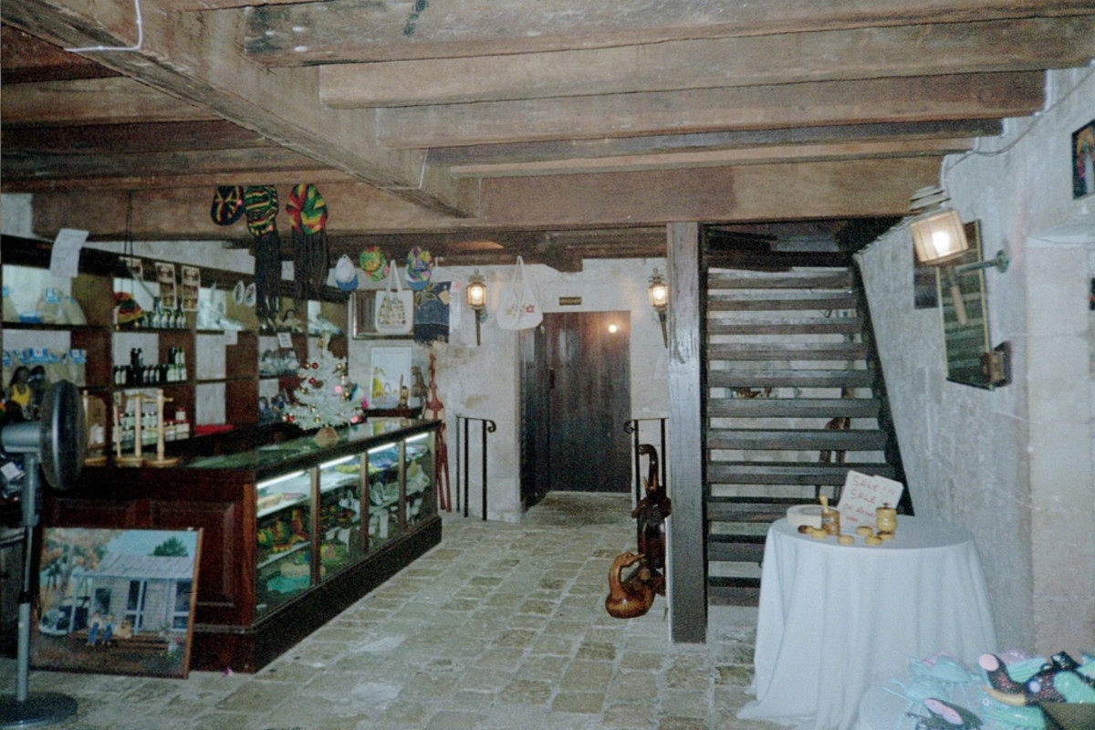 The cellar at Rose Hall that now serves as the gift shop.
