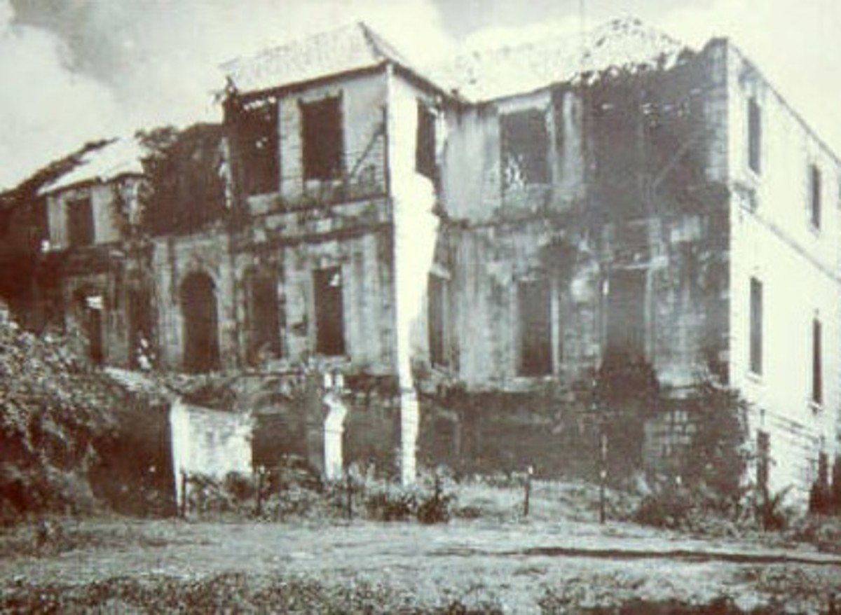 Rose Hall as it appeared prior to its restoration.