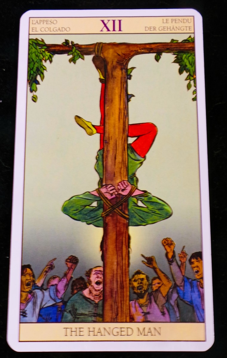 The Hanged Man from the Tarot of the New Vision
