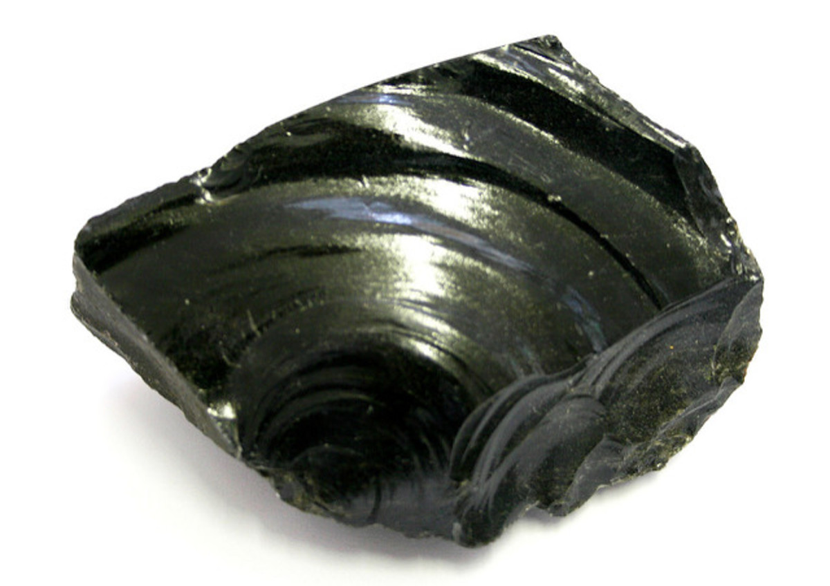 Obsidian is formed when lava cools quickily and in unable to crystalise.