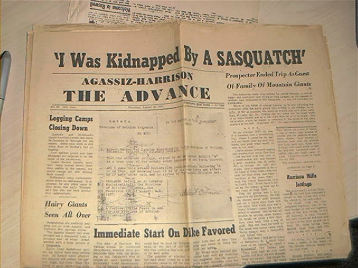 The newspaper headline after Ostman went public with his story.