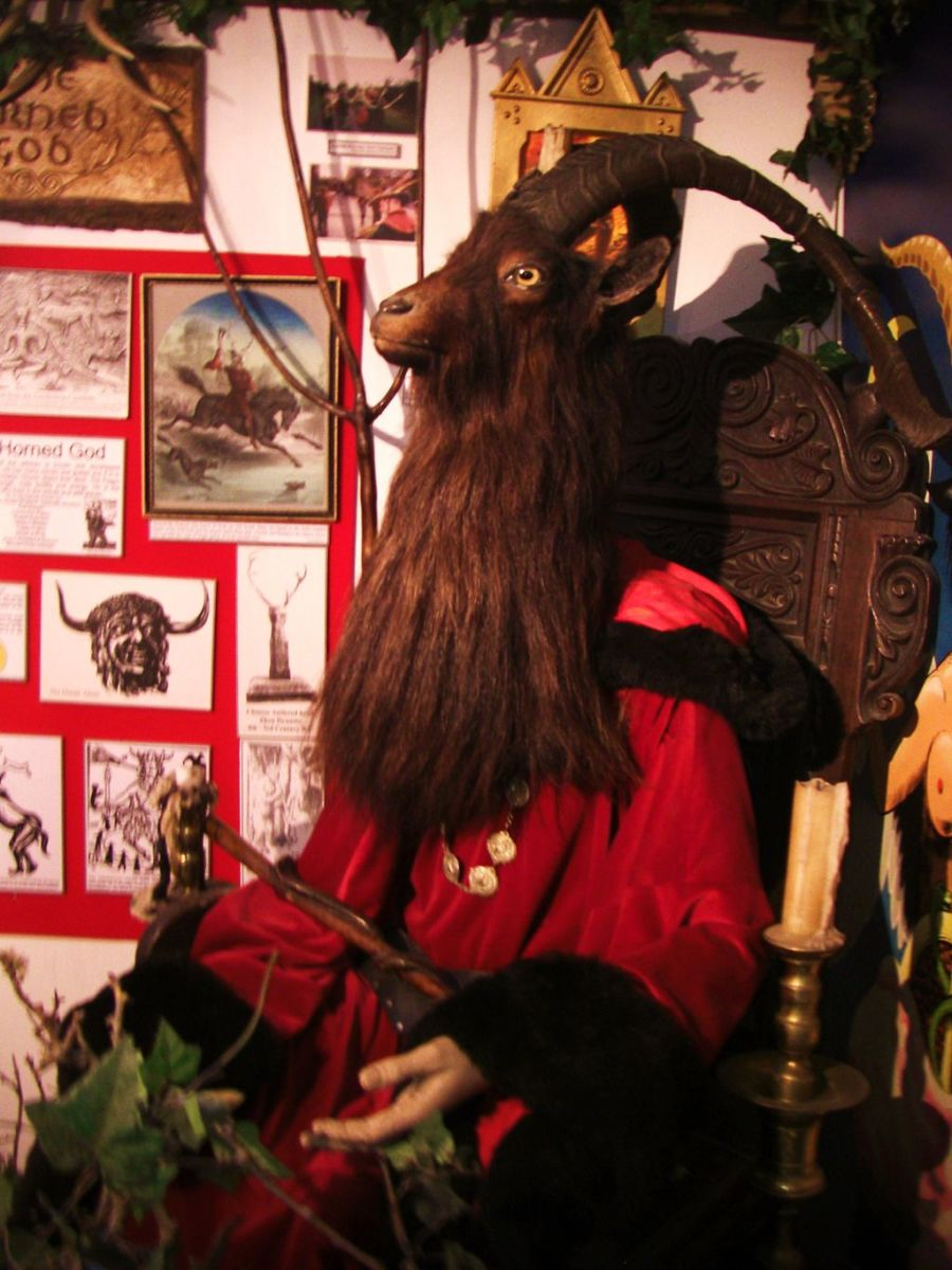 Horned God, Bucca from the Museum of Witchcraft. Boscastle, Cornwall  CC BY-SA 3.0