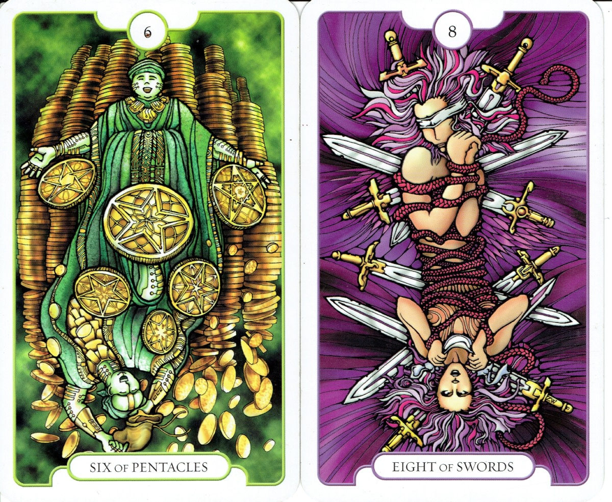 Revelations Tarot which cleverly incorporates both upright and reversed images.
