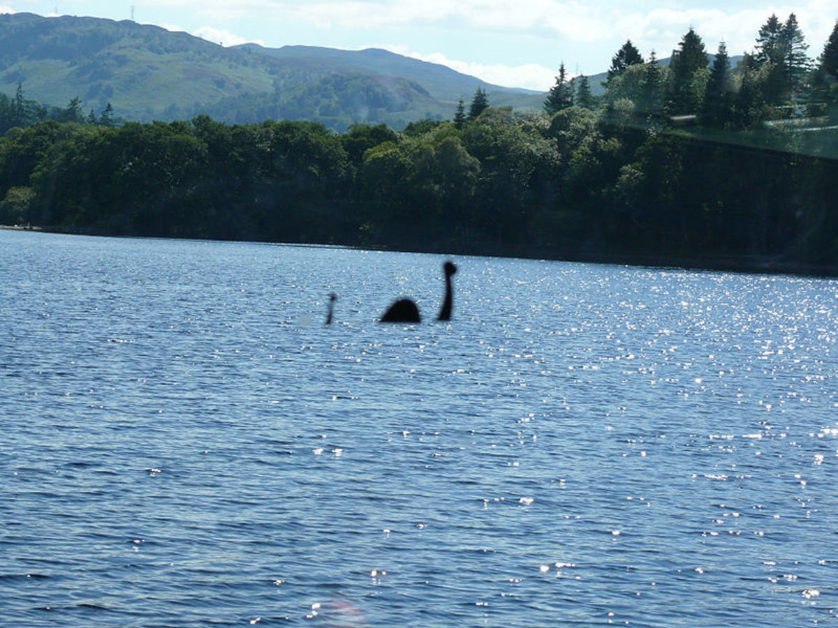 Some hoaxes are easy to spot. That may be Loch Ness but certainly not Nessie.