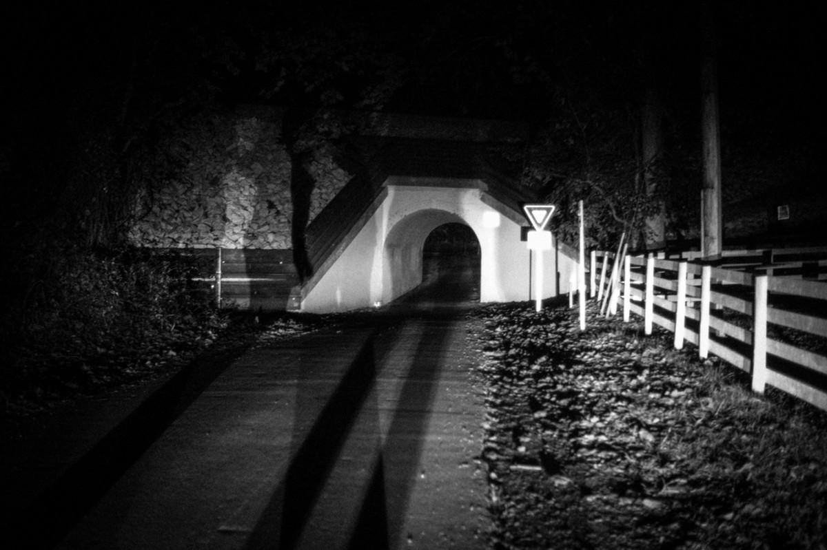 The Bunny Man Bridge seen in much more terrifying lighting.
